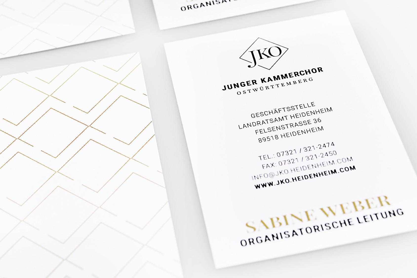 Corporate Identity straubmuellerstudios Stuttgart JKO Autogrammkarten